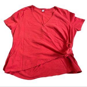 !!3 for $20!! Old Navy Orange wrap short sleeve